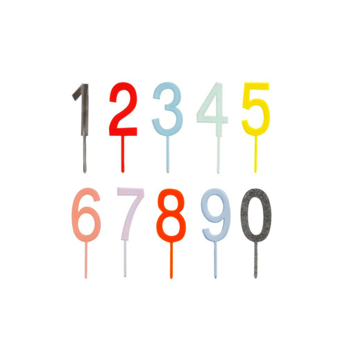 meri meri ♥Multicoloured Number Cake Toppers(45-2800)