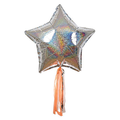 meri meri ♥ Silver Sparkly Star Balloon Kit(45-2478)