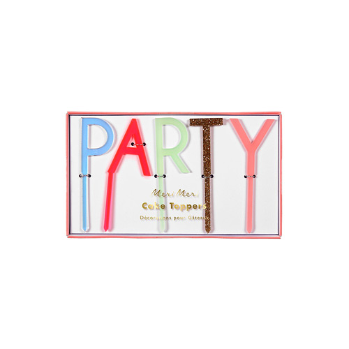 meri meri ♥ Pink Party Acrylic Toppers(45-2764)