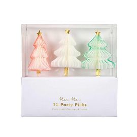 meri meri ♥Honeycomb Christmas Tree Party Picks(45-3076)